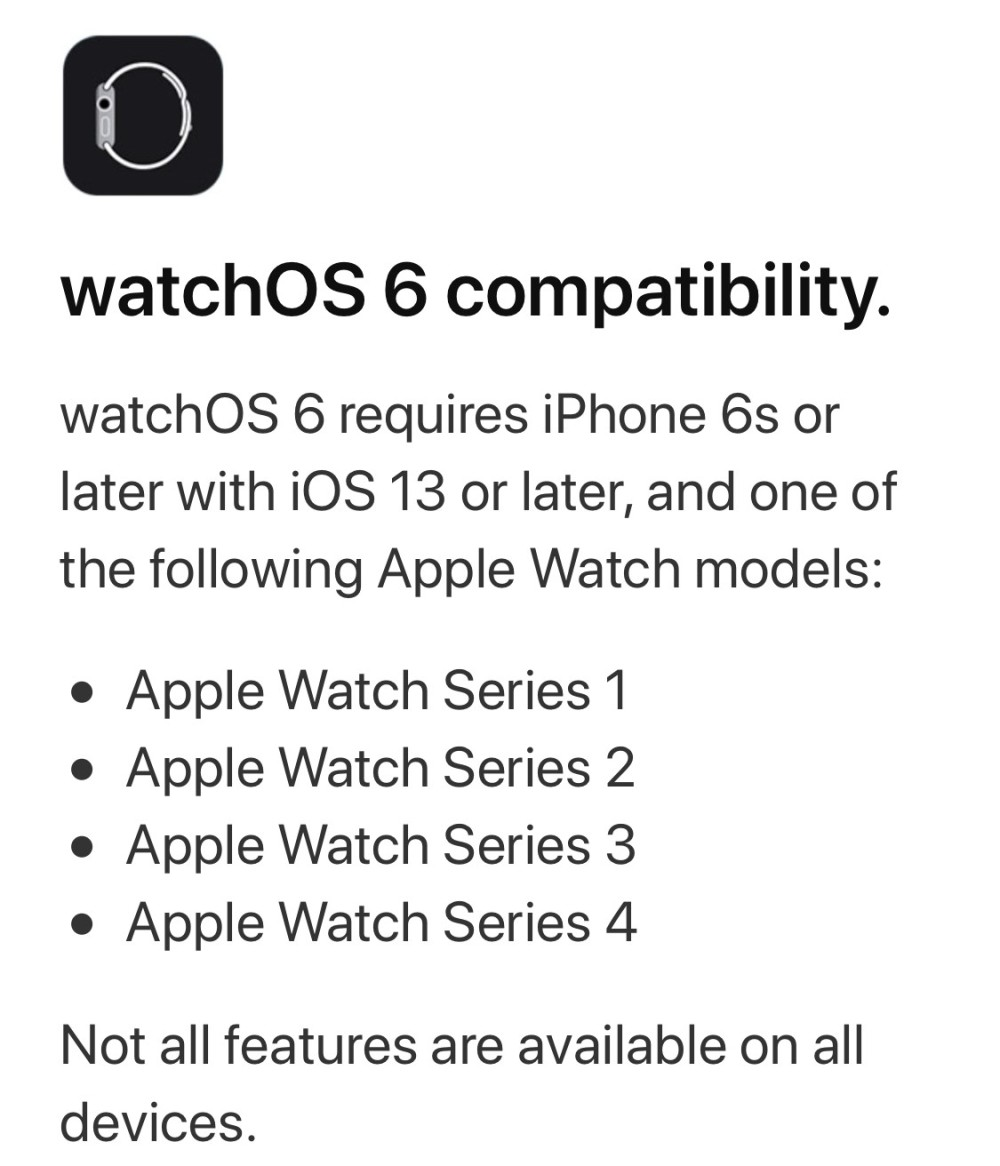WATCHOS6 DISPOSITIVO COMPATIBILI CEOTECH DOCTORAPPLEITALIA