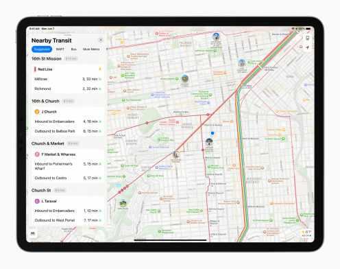 Apple_iPadPro-iPadOS15-maps-transit_060721